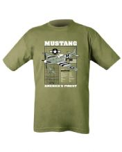 Mustang T-shirt - Olive Green